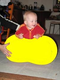 Barbapapa bal 55x 90 cm Ø geel