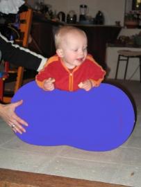 Barbapapa bal 30x 50 cm Ø blauw