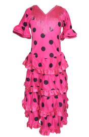Robe Flamenco rose noir Luxe