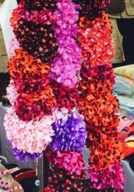 Flamenco hair flower red black dots