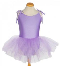Balletpakje tutu met striklinten paars