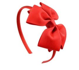 Haarband met rode strik NIEUW