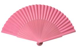 Spaanse flamenco waaier roze, hout en stof