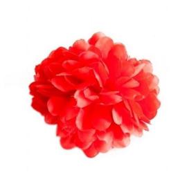 GRATIS haarbloem rood - vanaf 55 euro - max 1 per klant