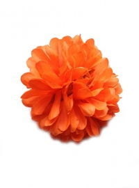 Flamenco hair flower orange