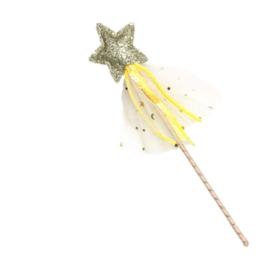 Toverstafje prinsessen geel/goud