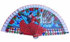 Spaanse waaier flamenco danseres hout 2