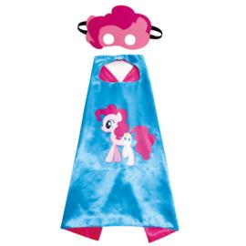 Eenhoorn cape blauw roze + masker unicorn