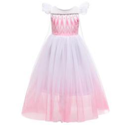 Elsa kleedje roze wit Luxe + GRATIS kroon