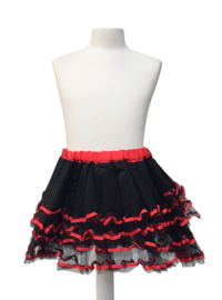 Spaans ballet rokje zwart rood