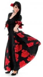 Spaanse jurk Rosa Deluxe dames