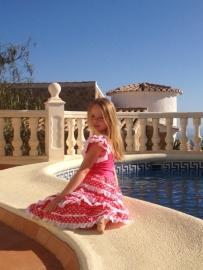 Flamenco Dress pink white