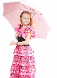 Flamenco Dress pink black