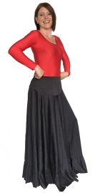 Flamenco skirt ladies black