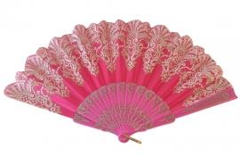Spaanse flamenco waaier roze glitter