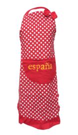 Spaanse flamenco schort España rood wit