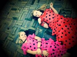 Robe Flamenco rouge noir Luxe