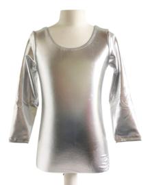 Balletpakje zilver met lange mouw