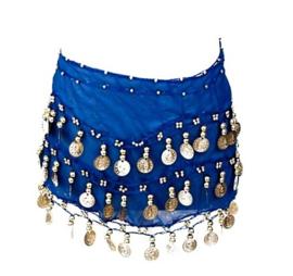 Spaanse dansdoek met muntjes, blauw