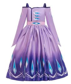 Frozen 2 Elsa jurk paars Deluxe + GRATIS ketting