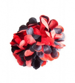 Flamenco hair flower red black