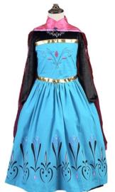Frozen Elsa jurk Kroning met cape + GRATIS ketting