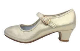 Spaanse schoenen goud parelmoer