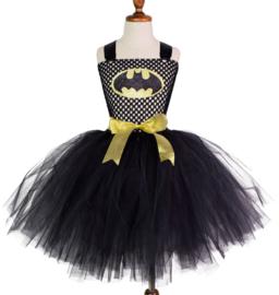Batgirl meisje tutu prinsessenjurk + GRATIS tas hanger