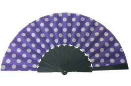 Flamenco fan purple white dots