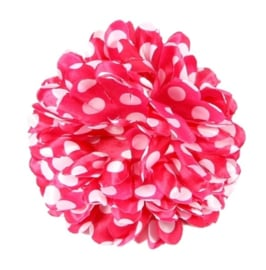 Flamenco hair flower pink white dots