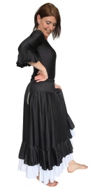 Flamenco rok dames zwart/wit