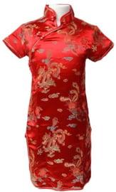 Chinese verkleed jurk rood