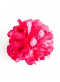 Spaanse haar bloem (fel) roze XL
