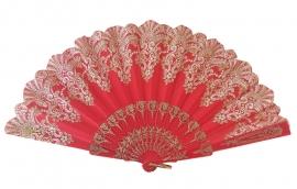Spaanse flamenco waaier rood glitter