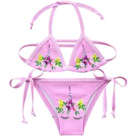 Eenhoorn bikini Unicorn licht roze + GRATIS ketting