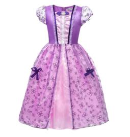 Prinsessenjurk paars roze + broche en GRATIS haarband