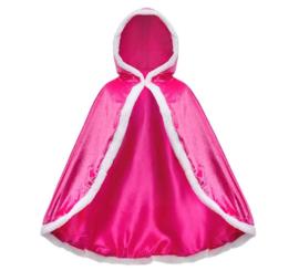 Prinsessen cape roze + GRATIS kroon