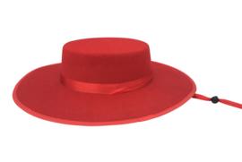 Spaanse sombrero rood volwassenen of kinderen