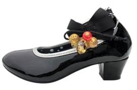 Spaanse schoenen zwart lak