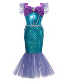 Zeemeerminnen kleedje donker paars + GRATIS kroon