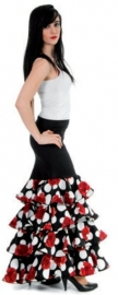 Flamenco skirt with polkadots and roses Deluxe