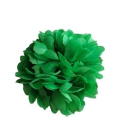 Flamenco hair flower green