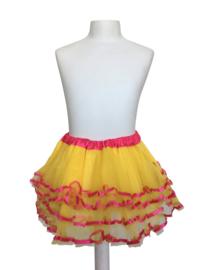 Ballet rokje geel roze