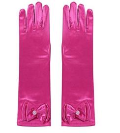 Handschoenen prinsessen fel roze voor kinderen