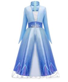 Frozen 2 Elsa jurk ster met sleep + GRATIS kroon