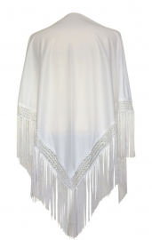 Flamenco shawl white