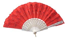 Spaanse flamenco waaier glamour rood