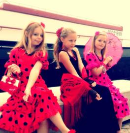 Serre-têtes Flamenco fleur rose