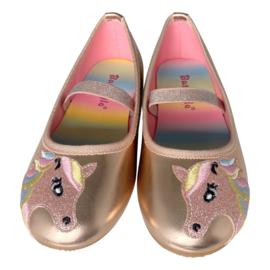 Eenhoorn schoenen ballerina rosé goud