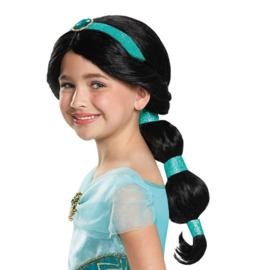 Jasmine pruik Aladdin zwart